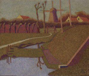 4. Hendricus Petrus Bremmer, Landschap met molen, 1894, olieverf op doek, Museum De Lakenhal, Leiden