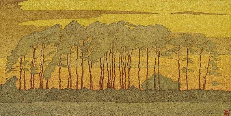 5. Hendricus Petrus Bremmer, Dennenbomen (Harskamp), 1912, olieverf op doek, Kröller-Müller Museum, Otterlo